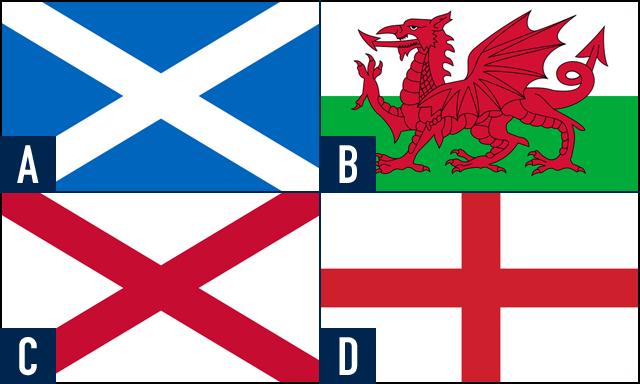 スコットランドの国旗はどれ?