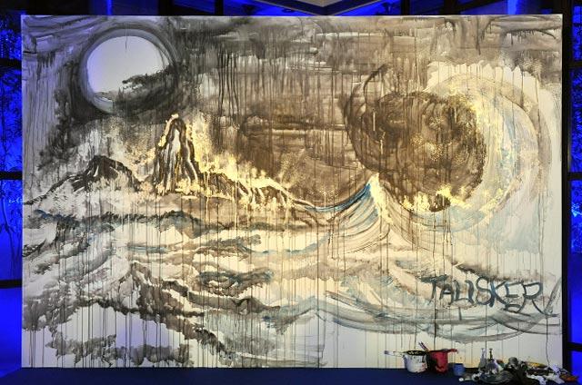 タリスカー ストームにインスピレーションを受けて描かれたCHiNPANさんの作品。