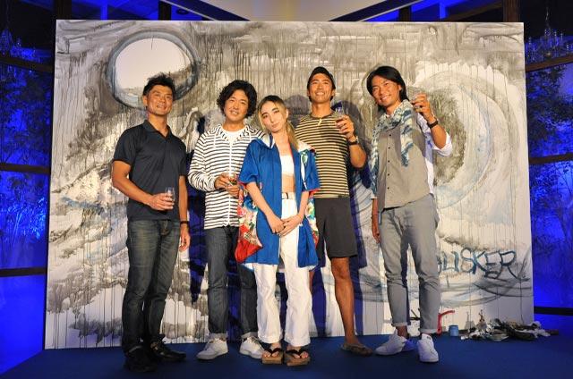 CHiNPANさんのライブペインティング完成 櫻井智和 鍵井靖章 八幡暁 篠宮龍三