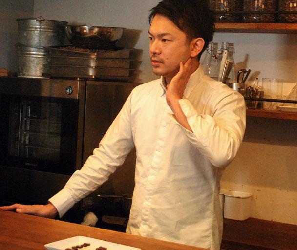 東京・渋谷区のBean to Bar チョコレート専門店「ミニマル」の田淵康佑さん
