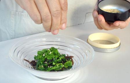 菜の花とキクラゲのナムルの作り方