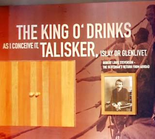 イギリスの作家、スチーブンソンは、シングルモルト スコッチウイスキー タリスカーを最高の一杯と評し、「KING OF DRINKS(酒の王者)」という言葉を残しています。