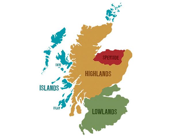 スコッチウイスキーの産地